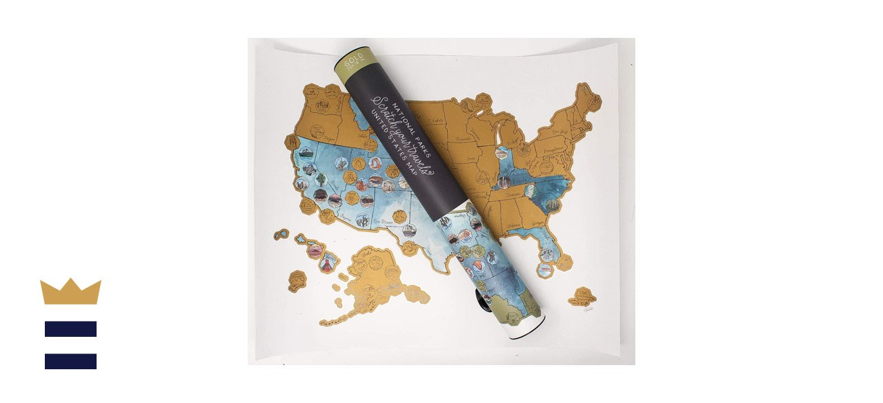 Jetsetter Scratch Your Travels Scratch Off Map