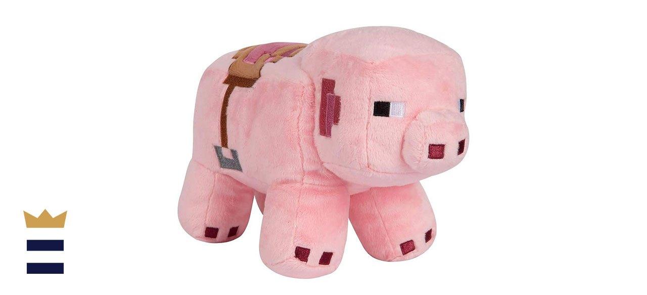 JINX's Minecraft Adventure Saddled Pig Plush