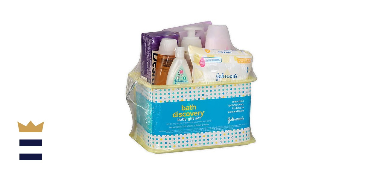 Johnson's 7-Piece Bath Discovery Baby Gift Set