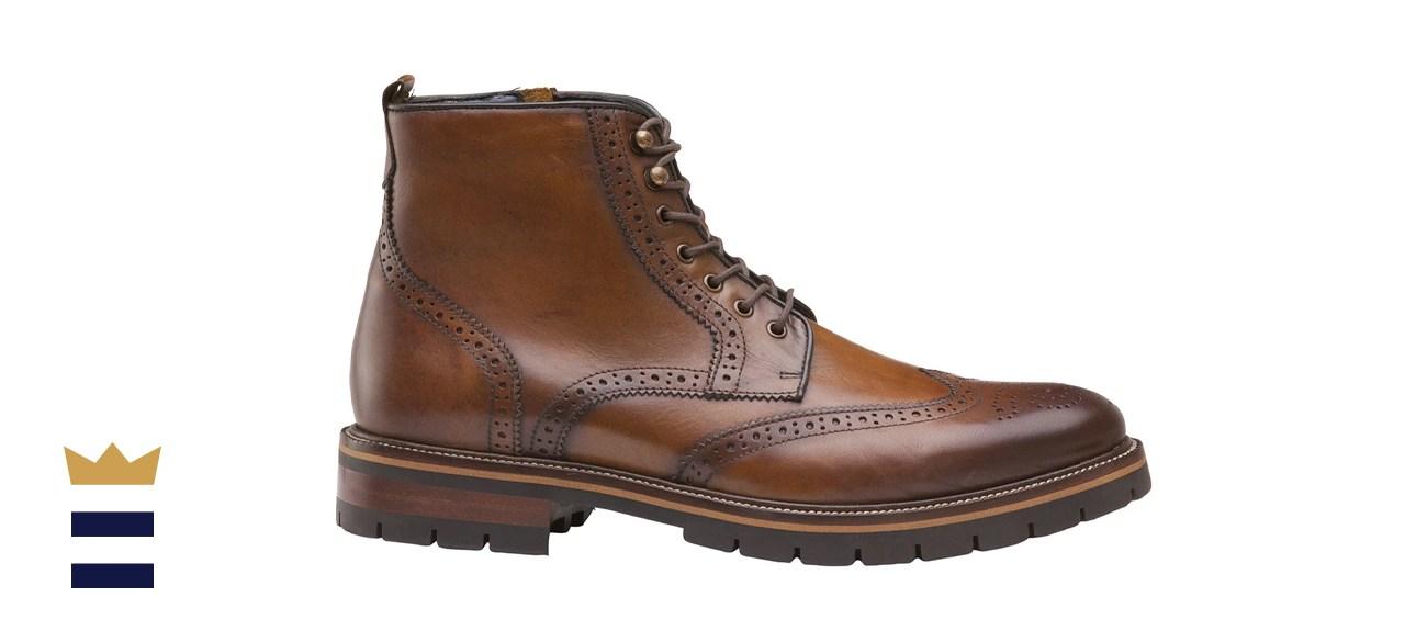 Johnston & Murphy Men's Cody Wingtip Zip Boot