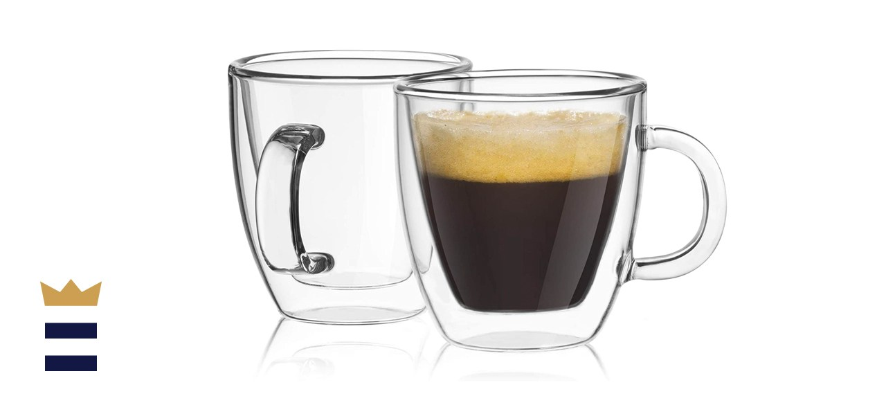 JoyJolt Savor Double Wall Insulated Espresso Mugs