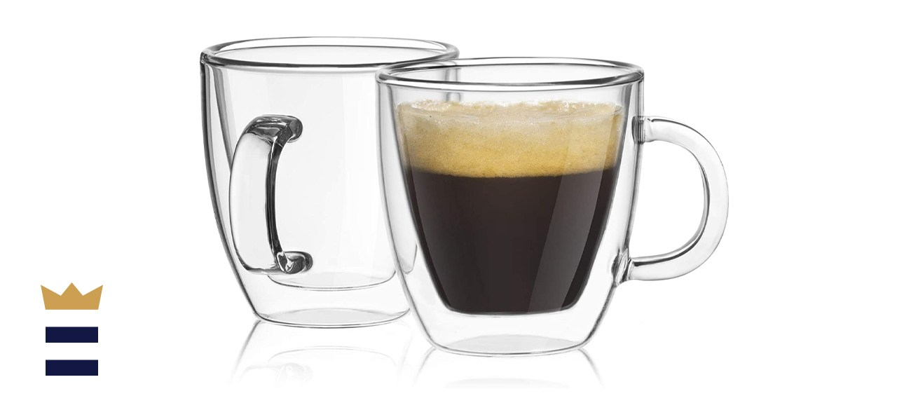 JoyJolt Savor Double Wall Insulated Espresso Glasses