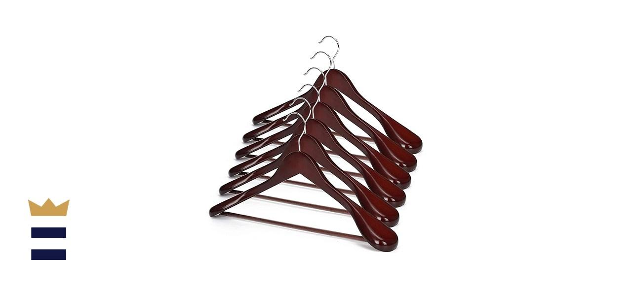 JS Hanger Multifunctional Wooden Suit Hangers