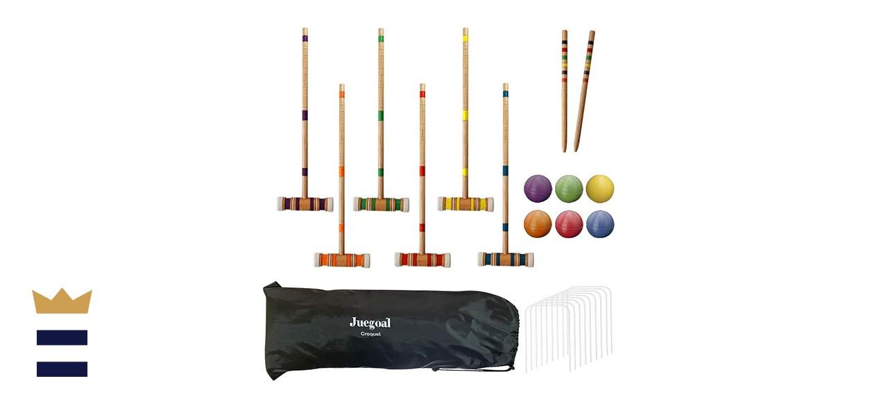 Juegoal Six Player Croquet Set with Drawstring Bag