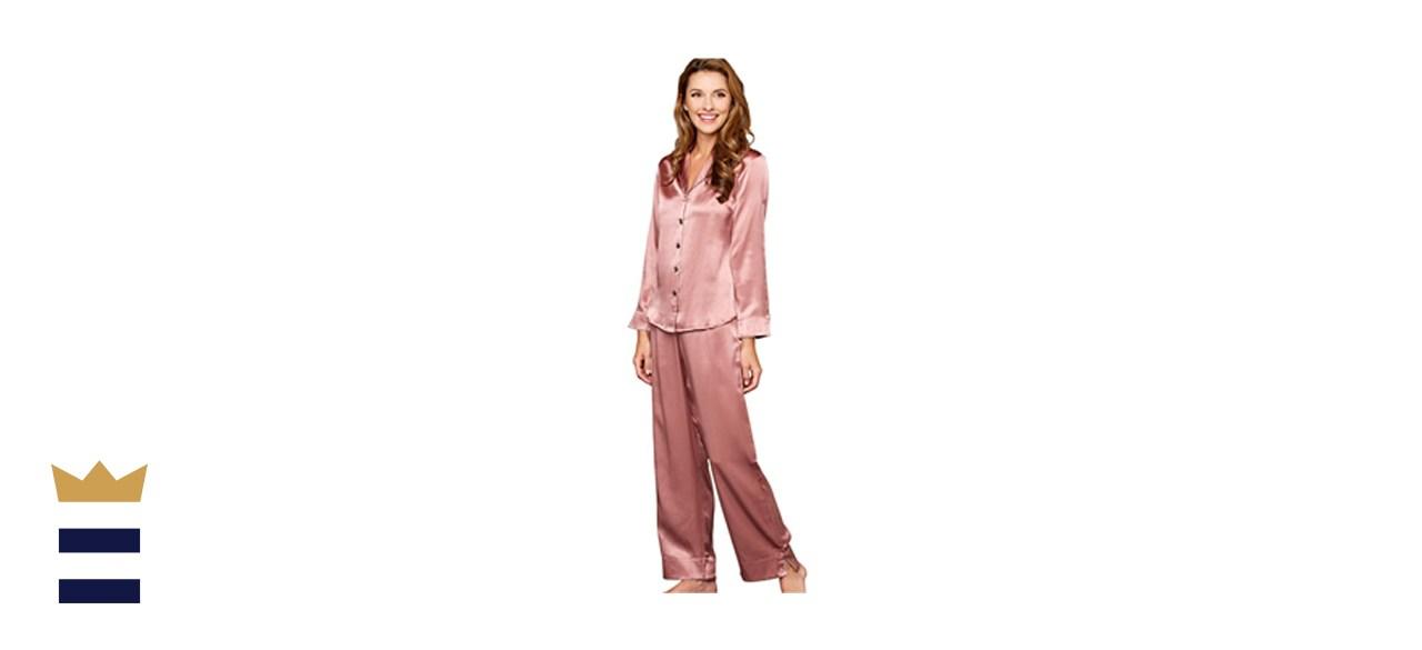 Julianna Rae Women's 100% Mulberry Silk Pajama Set