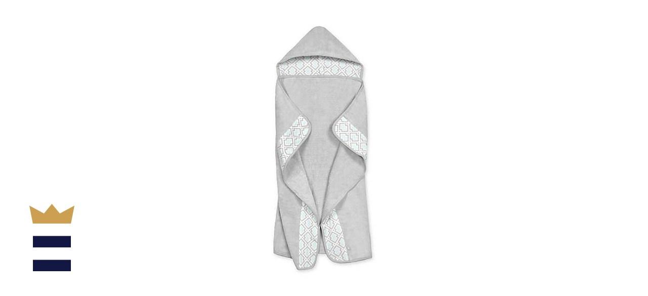 Just Born Geometric Print Hooded Bath Towel
