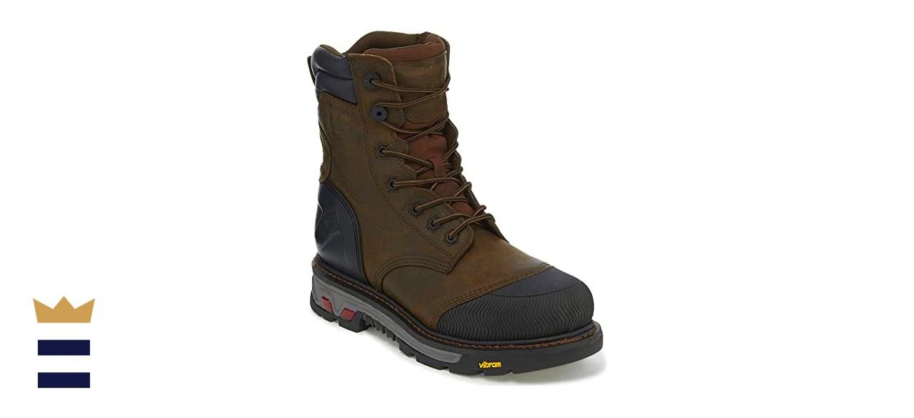 Justin Men's Warhawk Waterproof 8-Inch Work Boot Composite Toe