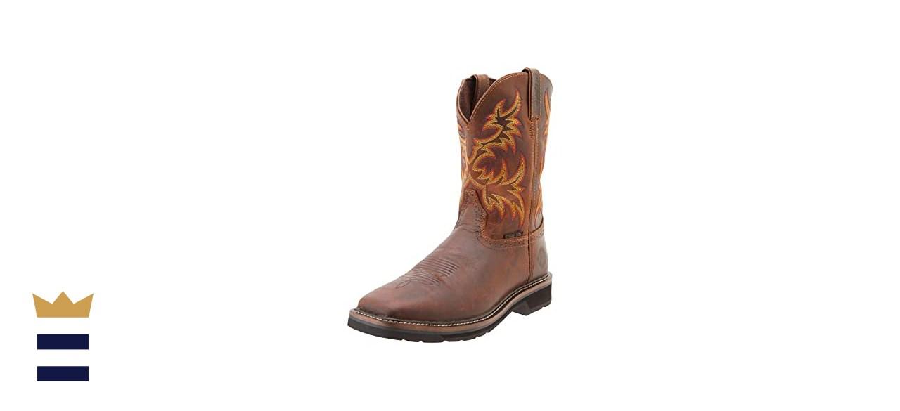 Justin Original Work Boots Men's Stampede Steel-Toe Square-Toe Work Boot