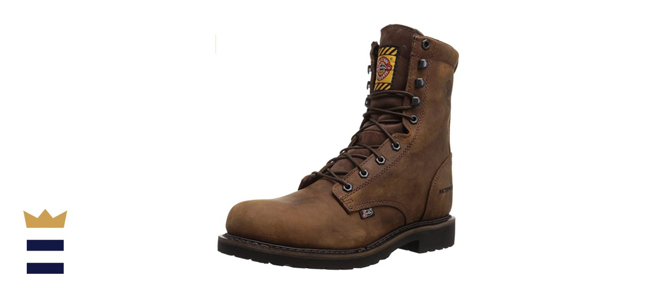Justin Original Work Men's Wyoming Worker Waterproof Steel-Toe Work Boot