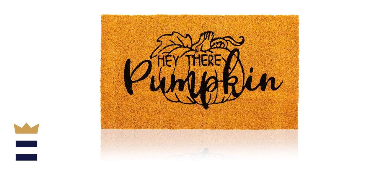"Juvale Natural Coir Welcome Door Mat, Hey There Pumpkin 30"" x 17"""