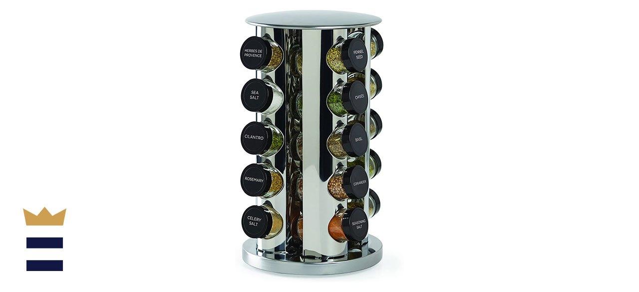 Kamenstein Revolving 20-Jar Countertop Rack Tower