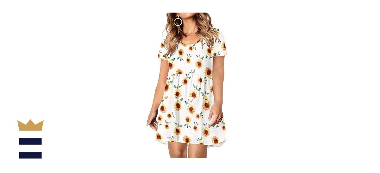 KARALIN Plus-Size Short-Sleeve Babydoll Dress