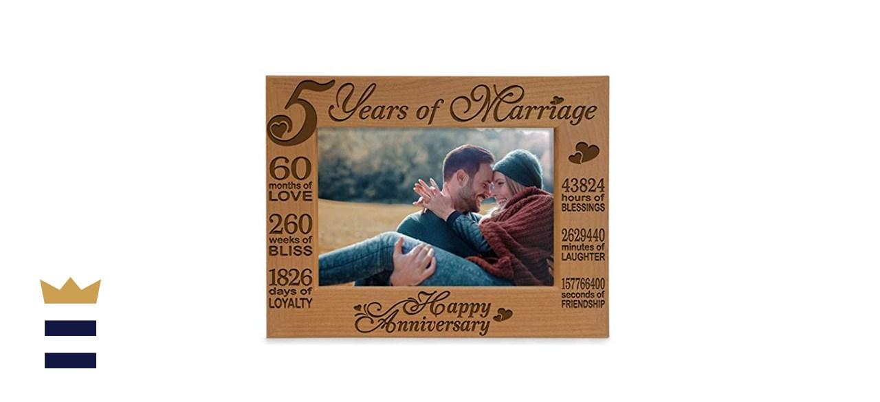 Kate Posh 5-Years of Marriage Photo Frame