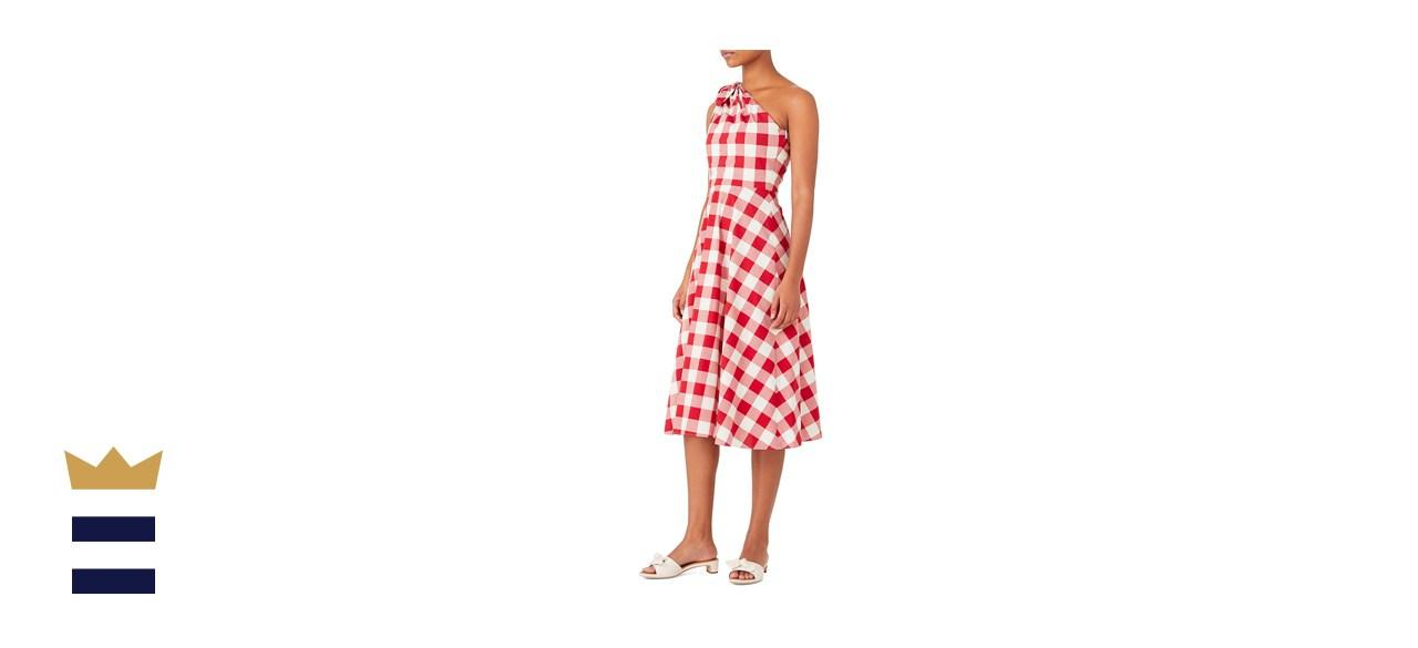 Kate Spade New York Gingham One-Shoulder Dress