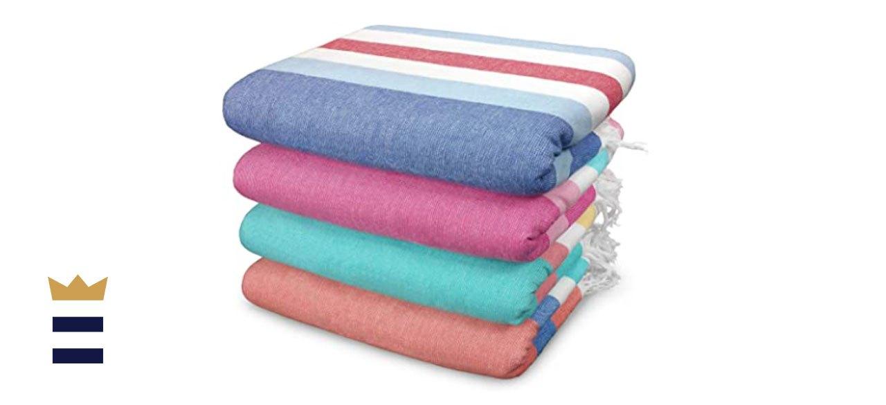 Kaufman Sand-Free Fouta Stripe Beach Towel Set