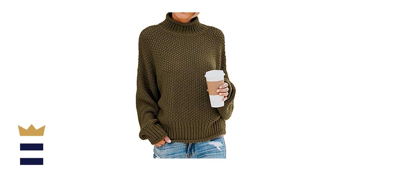 Kayamiya Chunky Knit Turtleneck Pullover