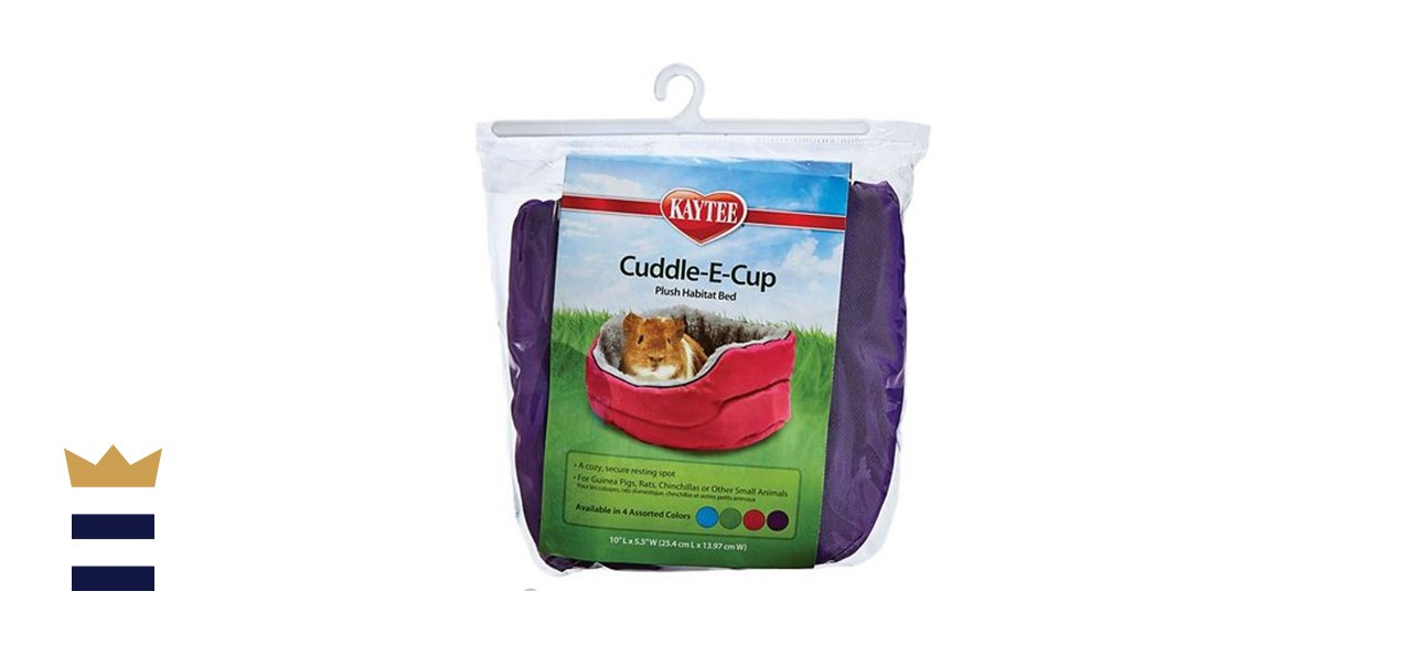 Kaytee Cuddle-E-Cup Plush Animal Bed, 10-Inch