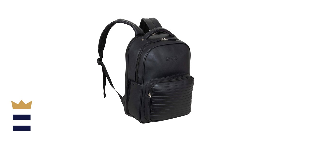 Kenneth Cole On Track Pack Vegan Leather Travel Backpack