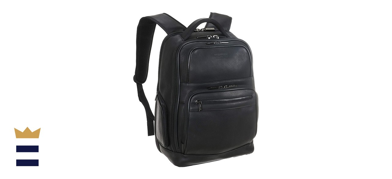 Kenneth Cole Reaction Manhattan Leather Laptop Backpack