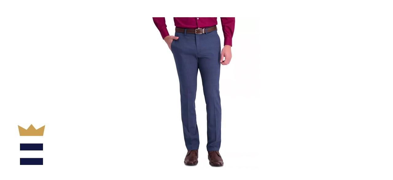 Kenneth Cole Reaction Slim-Fit Stretch Pattern Dress Pants