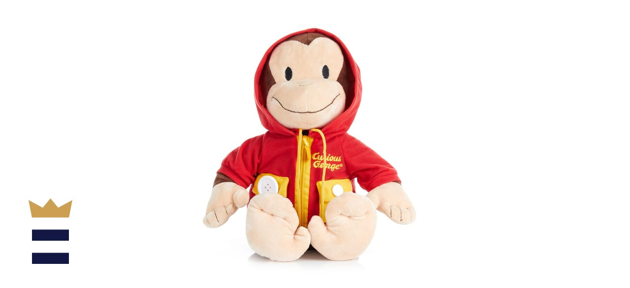 Kids Preferred Curious George Learn to Dress Plush Toy