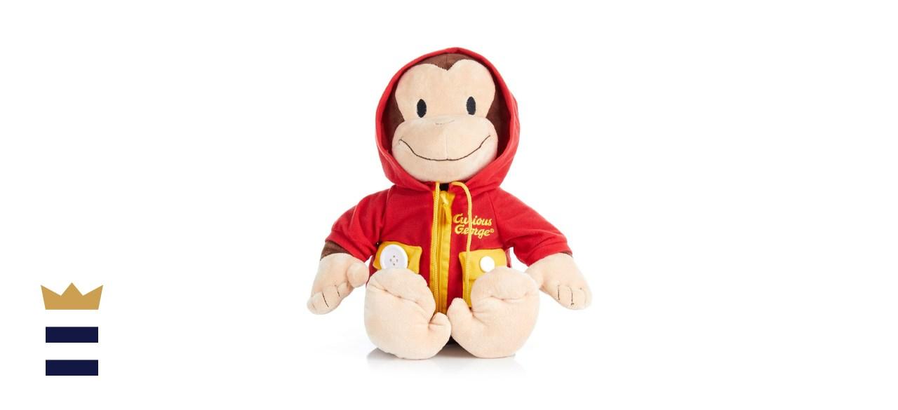 KIDS PREFERRED Curious George Learn-to-Dress Stuffed Animal