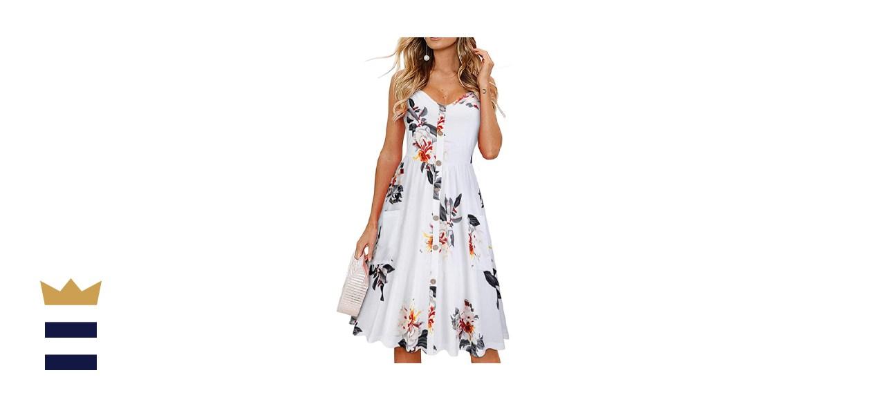 KILIG Button-Down Midi Dress with Pockets