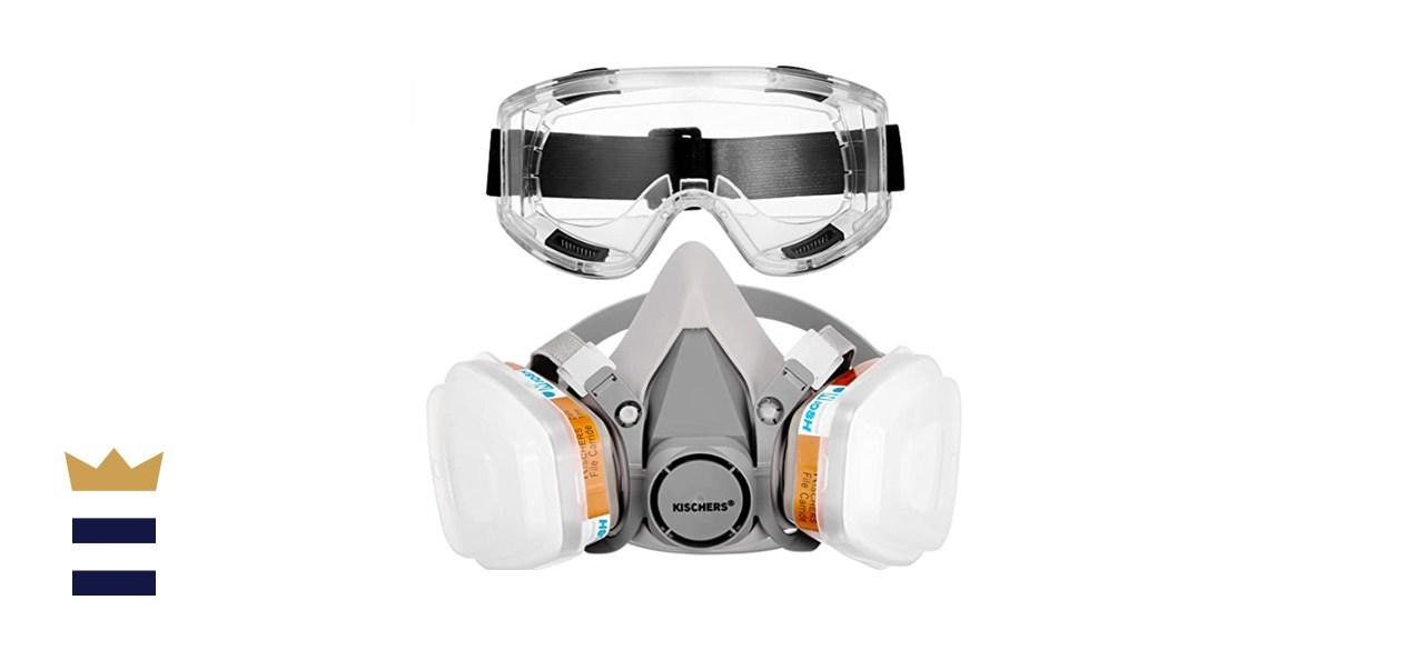 KISCHERS Reusable Half Facepiece and Anti-Fog Goggle Set