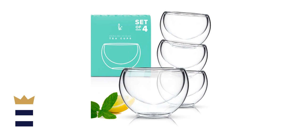 Kitchables Double Walled Glass Tea Cups