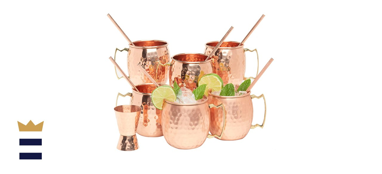 Kitchen Science Copper Moscow Mule Mug Set