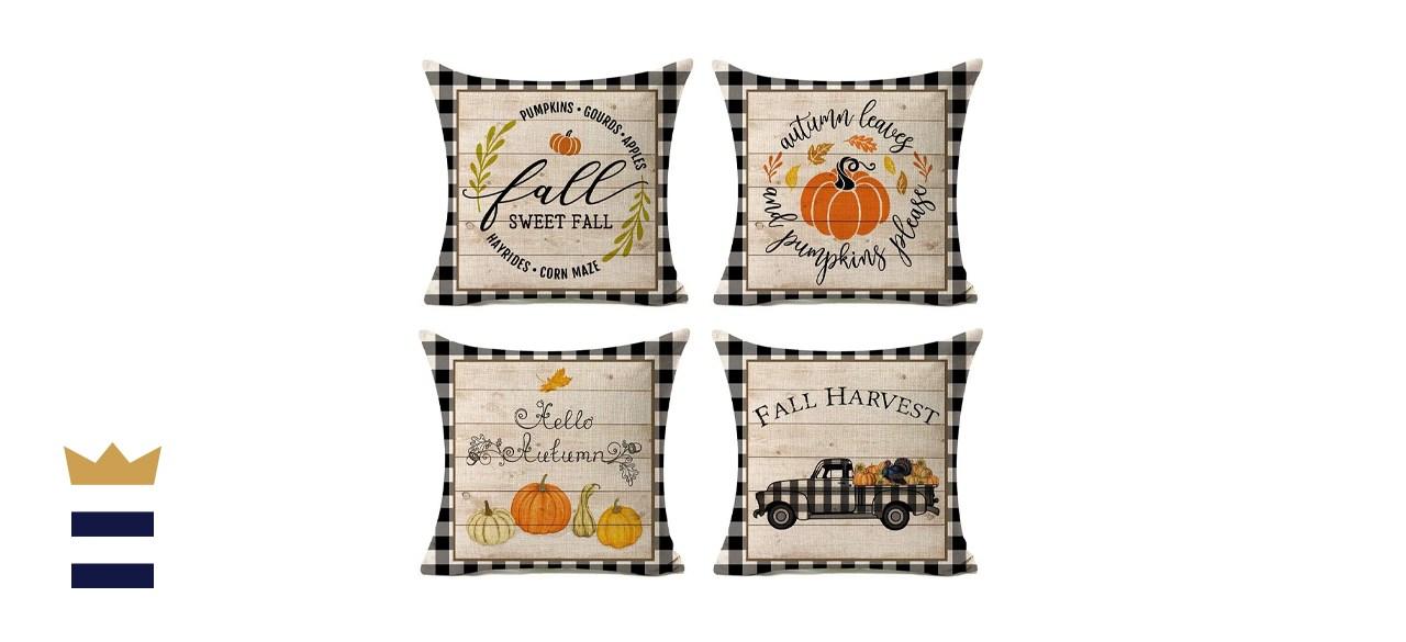 Pumpkin Harvest Throw Pillow Cases