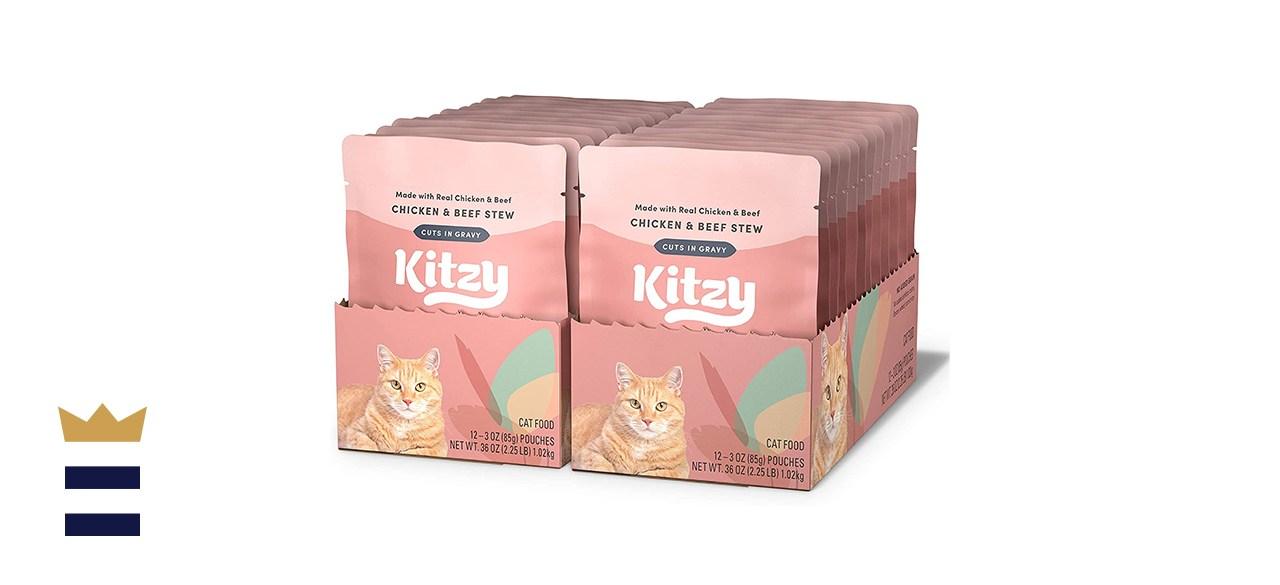 Kitzy Wet Cat Food Topper, Cuts in Gravy