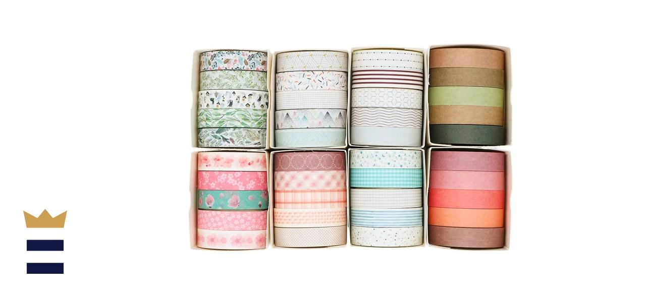 Knaid 40 Rolls of Slim Washi Tape Gift Box Set