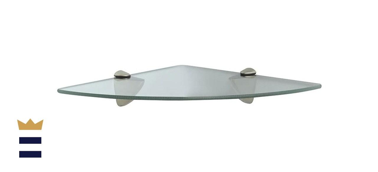 Knape & Vogt Decorative Corner Glass Shelf Kit