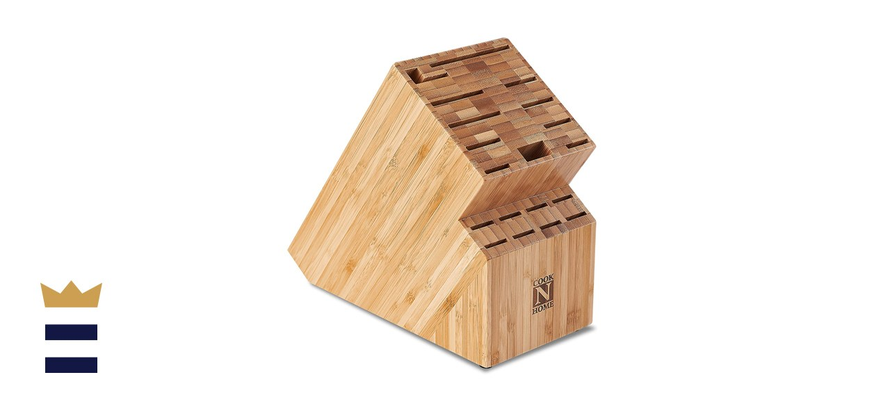 Cook N Home NC-00326 Bamboo Knife Storage Block