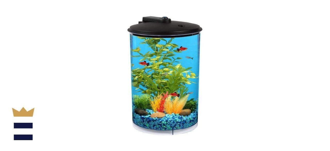 Koller Products AquaView 3-Gallon 360 Aquarium