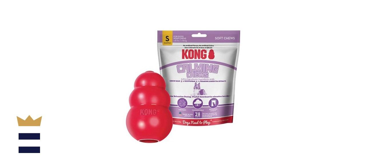Kong + Calming Chews Bundle