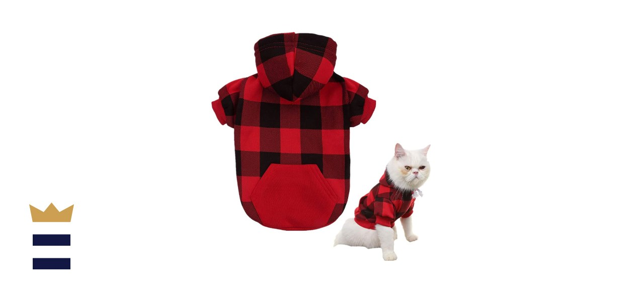 Kooltail Plaid Dog and Cat Hoodie with Hat