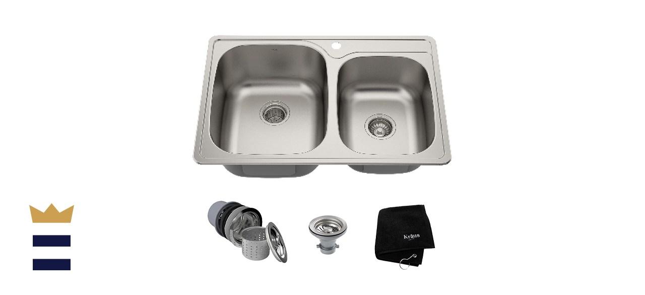 Kraus Double Bowl Kitchen Sink