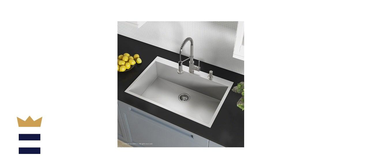 Kraus Pax Drop-In Kitchen Sink