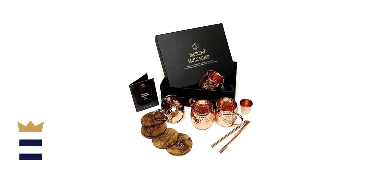 L.A. Copper Crafts Copper Moscow Mule Mug Set