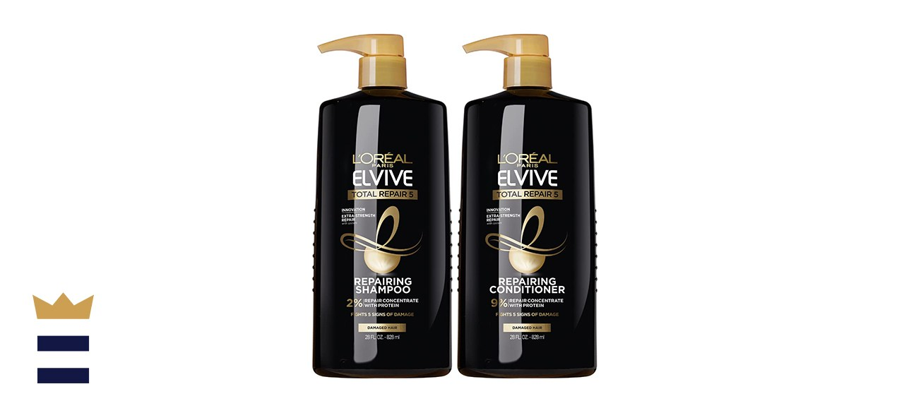 L'Oreal Paris Elvive Total Repair 5 Repairing Shampoo and Conditioner for Damaged Hair