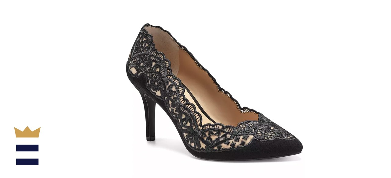 INC International Concepts Women's Zitah Embellished Pointed Toe Pumps