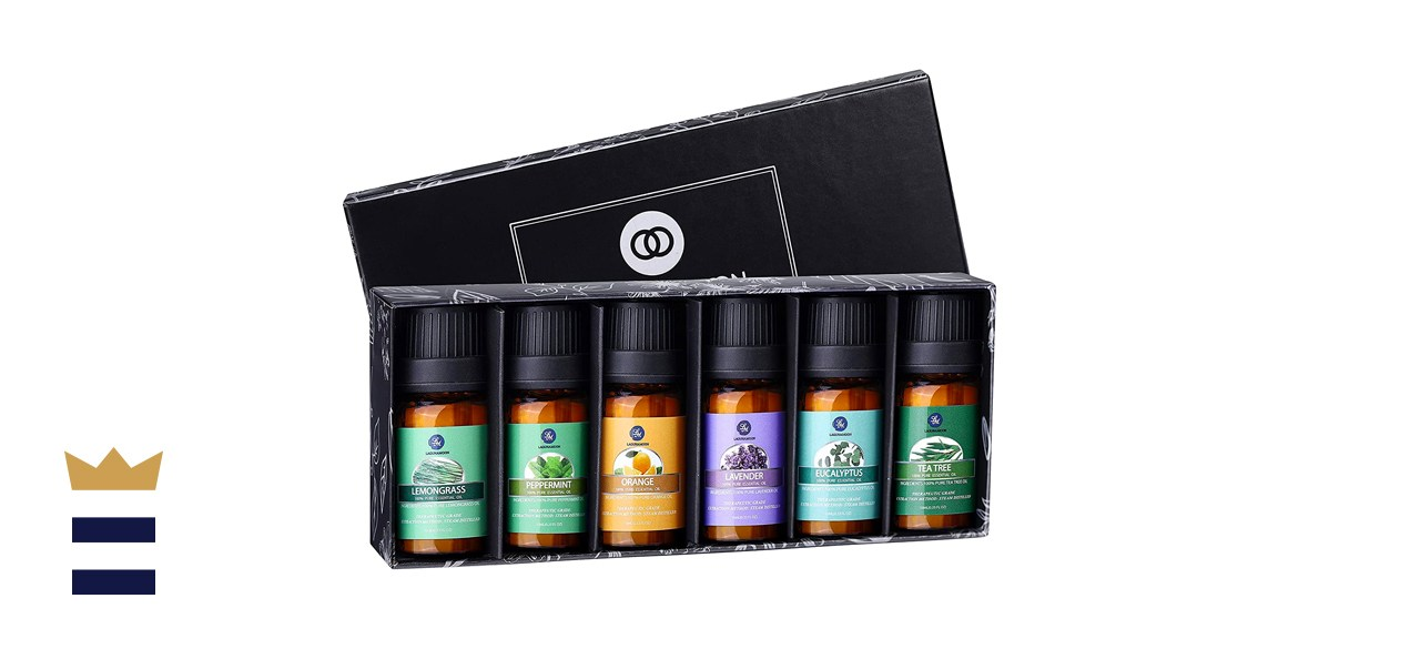 Lagunamoon Essential Oils Top 6 Gift Set Pure Essential Oils for Diffuser