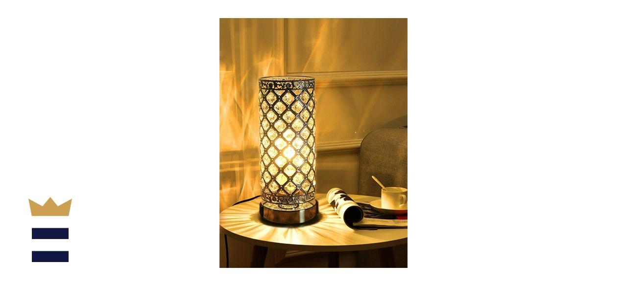 LALISU Touch Lamp Crystal Table Lamp