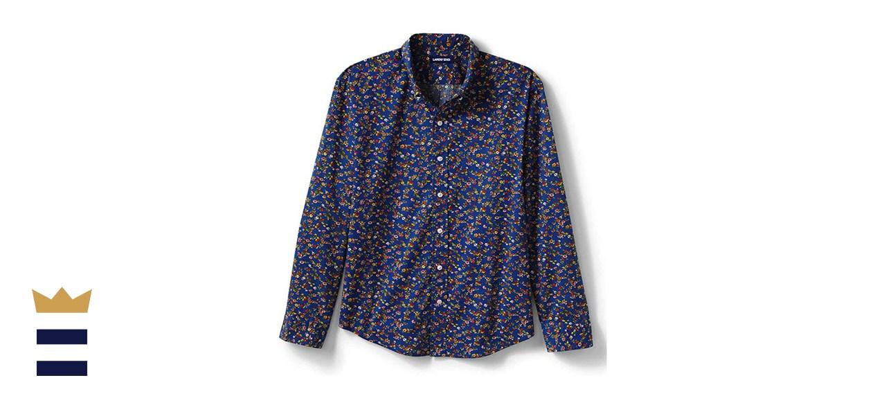 Lands' End Traditional Fit Essential Lightweight Poplin Shirt