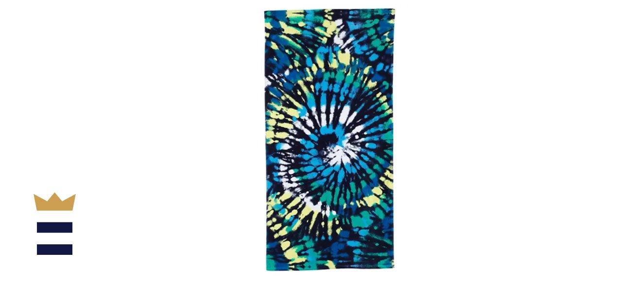 Lands' End Kids' Swirl Tie Dye Beach Towel