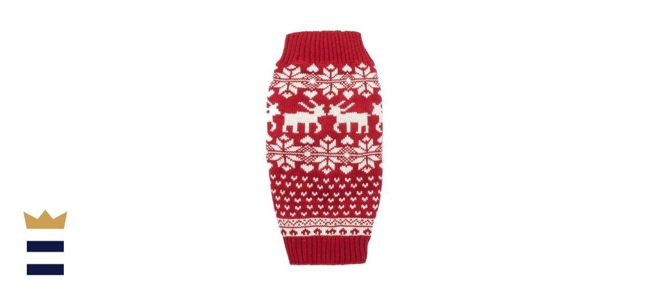 Lanyar Reindeer Holiday Dog Sweater