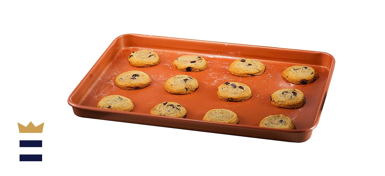 Gotham Steel Bakeware Nonstick Cookie Sheet XL Baking Tray Even Heat