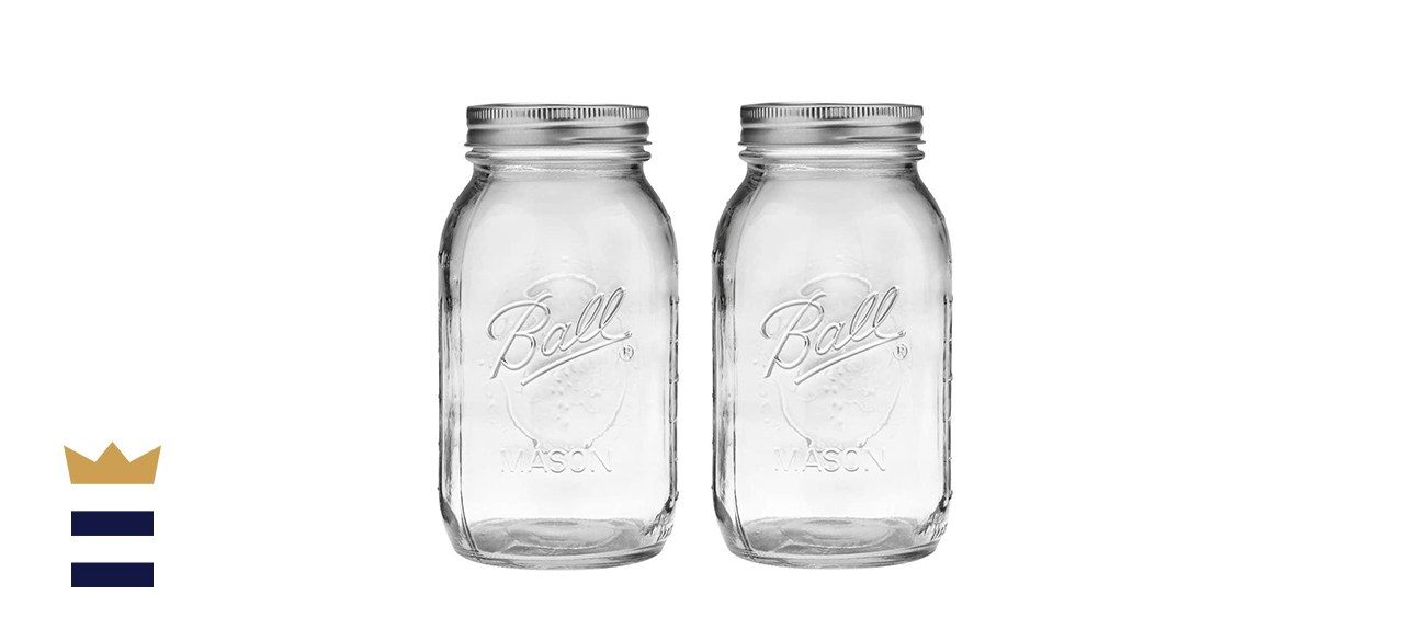 Ball Regular Mouth 32-Ounces Mason Jar with Lids and Bands (2-Units)